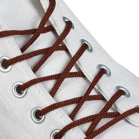 Шнурки для обуви круглые, d = 3 мм, 70 см, пара, цвет коричневый Ош