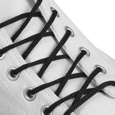Шнурки для обуви круглые, d=3мм, 70см, цвет чёрный
