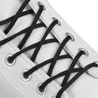 Шнурки для обуви круглые, d = 3 мм, 100 см, цвет чёрный
