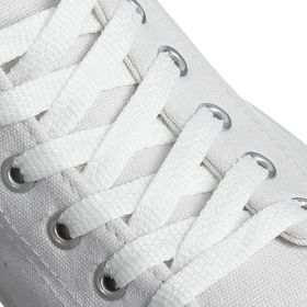Laces for shoes, flat, 8 mm, 70 cm, white