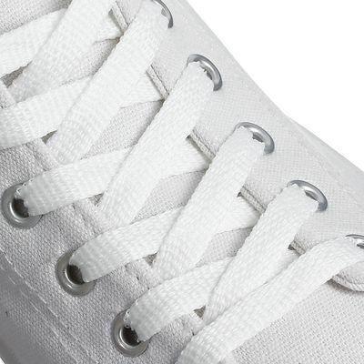 Шнурки для обуви плоские, 8мм, 70см, цвет белый
