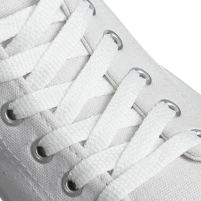 Шнурки для обуви плоские, 8 мм, 70 см, цвет белый