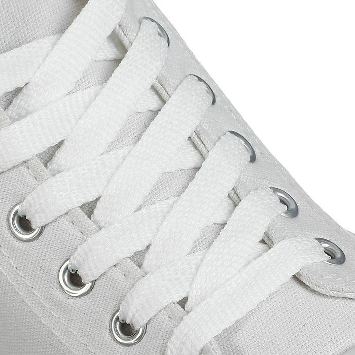 Шнурки для обуви плоские, 8 мм, 90 см, цвет белый