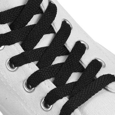 Шнурки для обуви плоские, 11мм, 70см, цвет чёрный