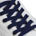 Шнурки для обуви плоские, 8 мм, 120 см, пара, цвет синий