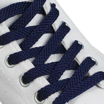 Шнурки для обуви плоские, 8мм, 120см, цвет синий