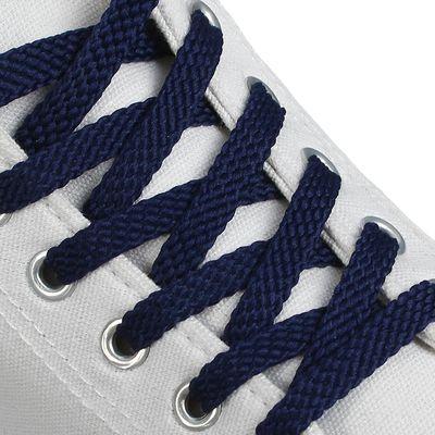 Шнурки для обуви, 8 мм, 130 см, пара, цвет синий