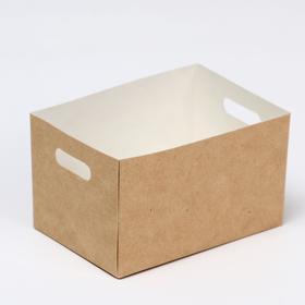 Упаковка для картофеля фри 7 х 10 х 6 см, 0,42 л
