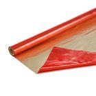 Полисилк двухцветный красный + золото, 1 х 20 м