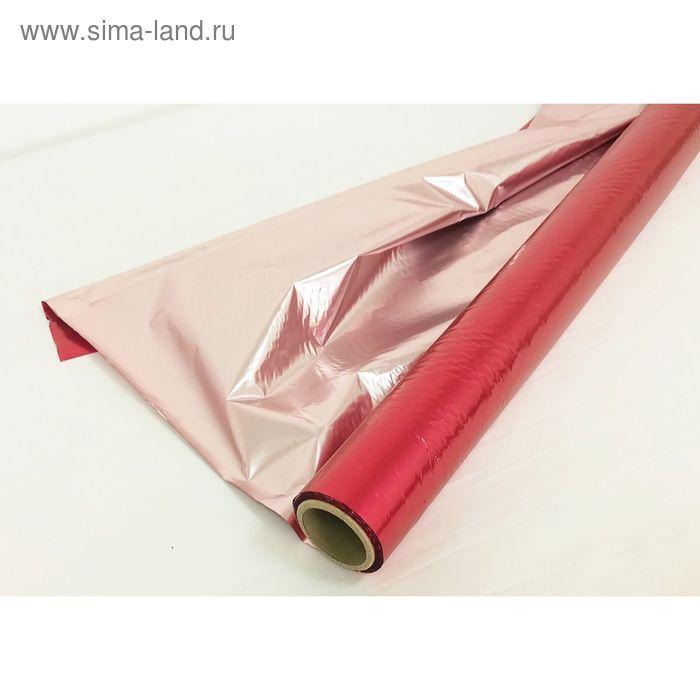 Полисилк двухцветный, цвет вишневый + бледно розовый, 1 х 20 м
