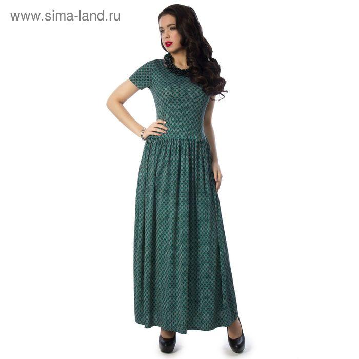 Платье женское, размер 42, цвет зелёный П3-3176