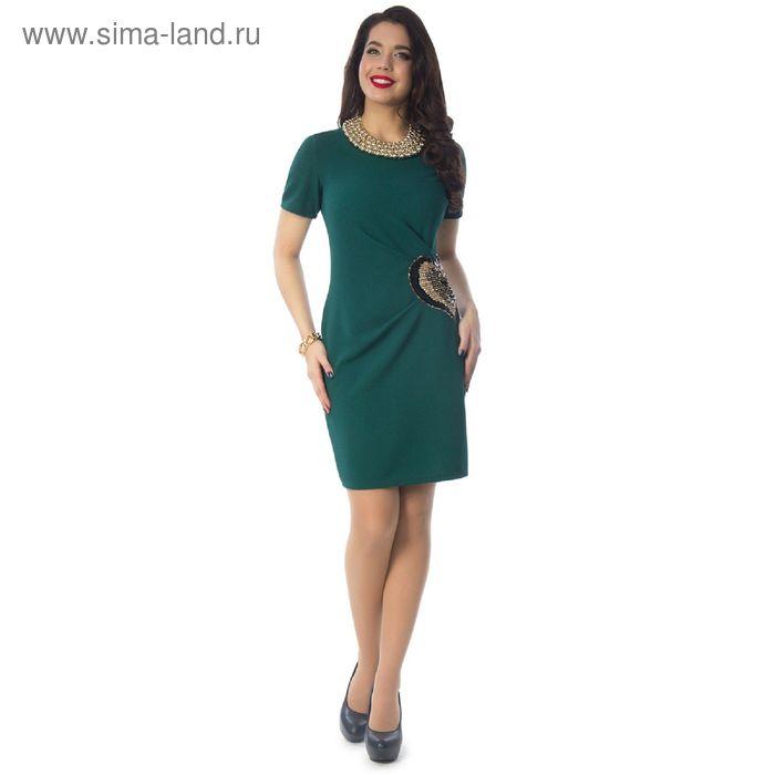 Платье женское, размер 42, цвет зелёный П4-3002/3