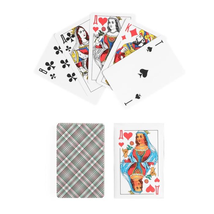 """Карты игральные бумажные """"Классика. Дама"""", 36 шт., 8,8 × 5,7 см"""