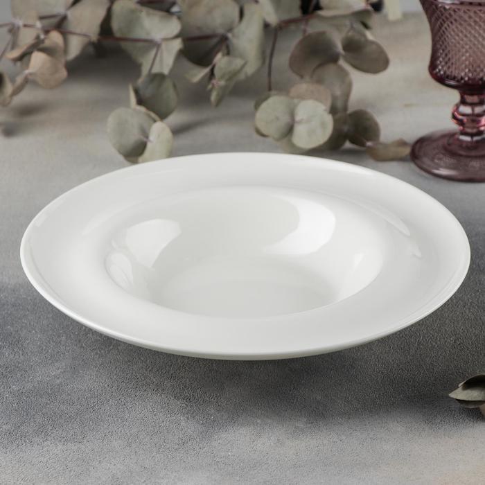 Тарелка глубокая Wilmax Undina, d=25,5 см, 450 мл, цвет белый - фото 308066565