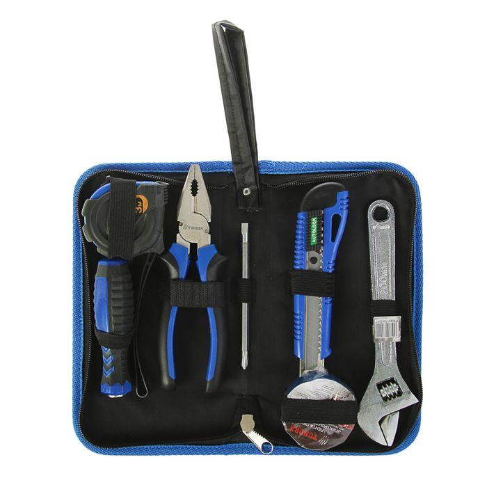 Набор инструментов в кейс-папке TUNDRA comfort, универсальный, 6 предметов