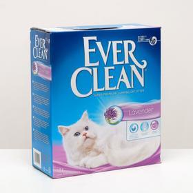 Наполнитель комкующийся Ever Clean Lavender с ароматом лаванды, 10л