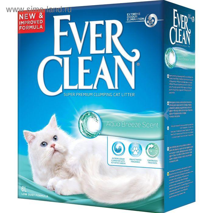 Наполнитель комкующийся Ever Clean Aqua Breeze Scent  с ароматом морской свежести, 6 л
