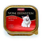 Влажный корм Animonda VOM FEINSTEN KITTEN для котят, с говядиной, ламистер, 100 г