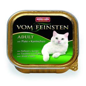 Влажный корм Animonda VOM FEINSTEN ADULT для кошек, с индейкой и кроликом, ламистер, 100 г