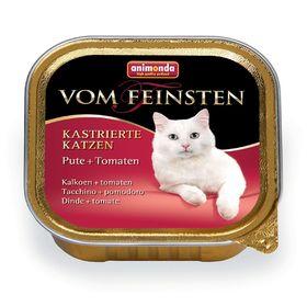 Влажный корм Animonda VOM FEINSTEN для стерилизованных кошек,  индейка/томат, 100 г