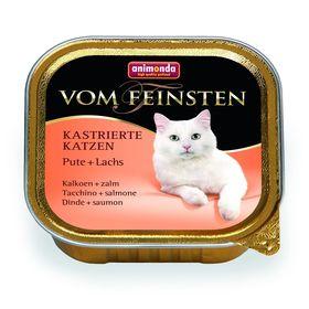 Влажный корм Animonda VOM FEINSTEN для стерилизованных кошек, индейка/лосось, ламистер, 100 г 194412
