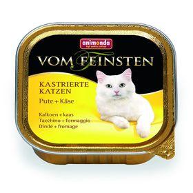 Влажный корм Animonda VOM FEINSTEN для стерилизованных кошек, индейка/сыр, ламистер, 100 г