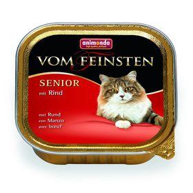 Влажный корм Animonda VOM FEINSTEN SENIOR для кошек 7 +, с говядиной, ламистер, 100 г