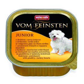 Влажный корм Animonda VOM FEINSTEN JUNIOR для щенков, домашняя птица/сердце индейки, 150 г