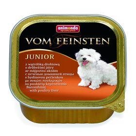 Влажный корм Animonda VOM FEINSTEN JUNIOR для щенков, печень/домашняя птица, 150 г