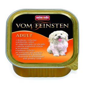 Влажный корм Animonda VOM FEINSTEN ADULT для собак, домашняя птица и телятина, 150 г