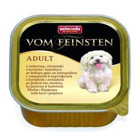 Влажный корм Animonda VOM FEINSTEN ADULT для собак, говядина/картошка, 150 г