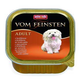 Влажный корм Animonda VOM FEINSTEN ADULT для взрослых собак, кролик, ламистер, 150 г