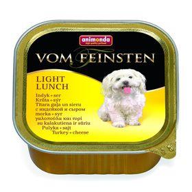 Влажный корм Animonda VOM FEINSTEN LIGHT LUNCH облегченное для собак, индейка/ сыр, 150г