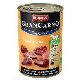 Влажный корм Animonda Gran Carno Original Adult для собак, говядина/индейка, ж/б, 400 г