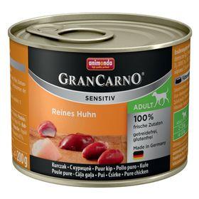 Влажный корм Animonda Gran Carno Sensitiv для взрослых собак, курица, ж/б, 200 г