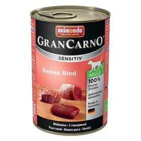 Влажный корм Animonda Gran Carno Sensitiv для взрослых собак, говядина, ж/б, 400 г