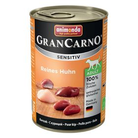 Влажный корм Animonda Gran Carno Sensitiv для взрослых собак, курица, ж/б, 400 г