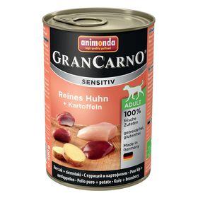 Влажный корм Animonda Gran Carno Sensitiv для взрослых собак, курица/картофель, ж/б, 400 г