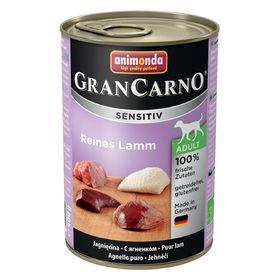 Влажный корм Animonda Gran Carno Sensitiv для взрослых собак, ягненок, ж/б, 400 г