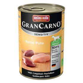 Влажный корм Animonda Gran Carno Sensitiv для взрослых собак, индейка, ж/б, 400 г