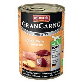 Влажный корм Animonda Gran Carno Sensitiv для взрослых собак, индейка/картофель, ж/б, 400 г   194421