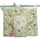 Подвесные карманы в кроватку «Мишутка», цвет зелёный КШК01-003