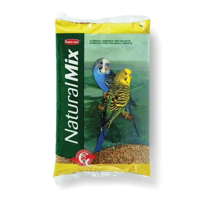 Корм основной Padovan NATURALMIX Cocorite для волнистых попугаев, 1 кг.