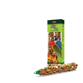 Лакомства Padovan STIX FRUIT для средних попугаев, палочки фруктовые, 100 г.