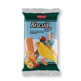 Бисквиты Padovan BISCUIT Fruit для декоративных птиц, фрукты/яйцо, 5х30 г.