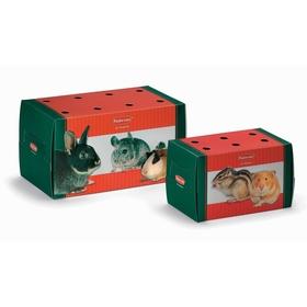 Переноска Padovan  TRASPORTINO grande одноразовая/картонная для грызунов и птиц , 22,5*12.5*12.5см
