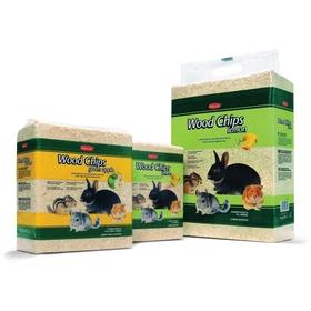 Наполнитель Padovan  WOOD CHIPS, lemon  древесные стружки с запахом лимона  для грызунов , 4кг/56л