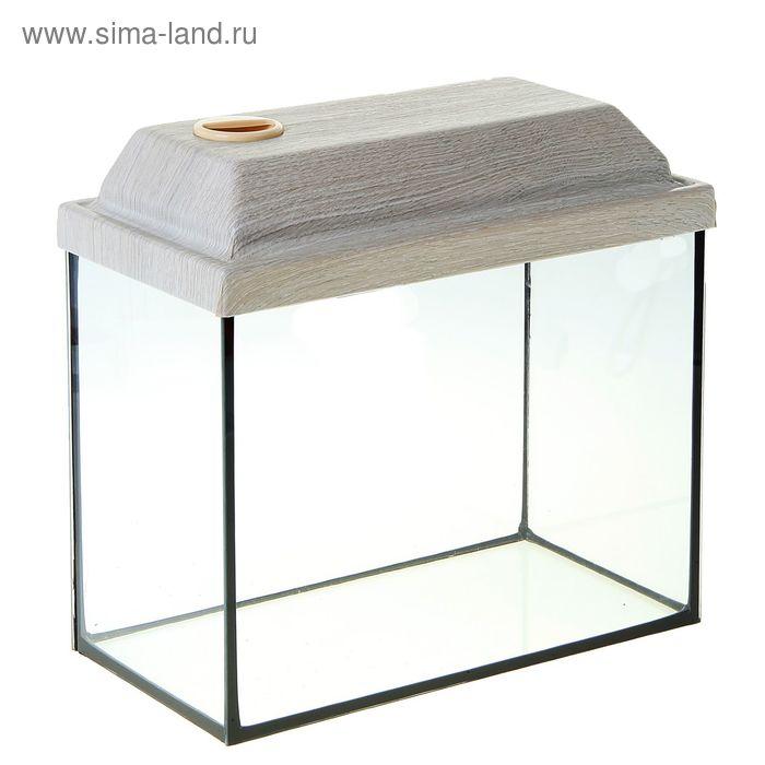 Аквариум прямоугольный с крышкой, 50 литров, 51 х 27 х 35/41 см, французский дуб