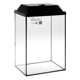 Аквариум колонна с крышкой, 36 литров, 32 х 25 х 45/50,5 см, венге
