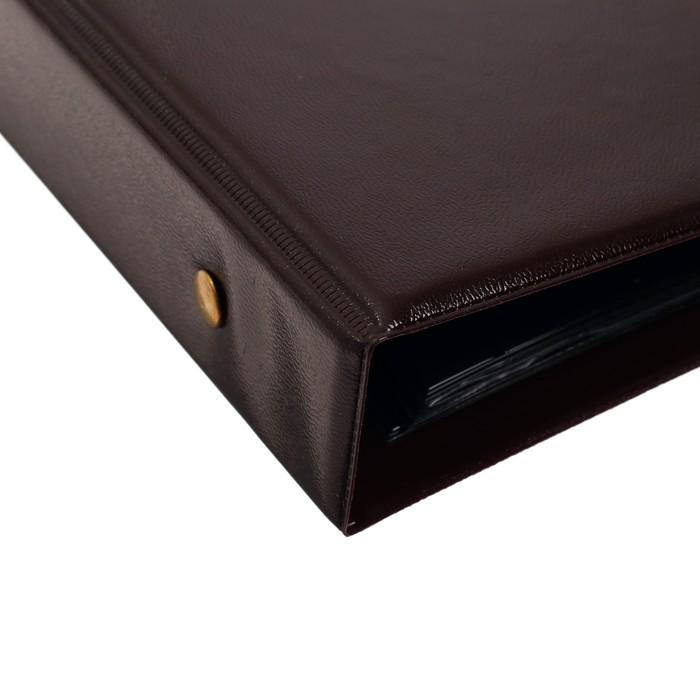 Альбом (кляссер) для марок «Коллекция», 230x270 мм, Optima с комплектом листов, обложка ПВХ - фото 418338472
